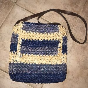 Handbags - Straw multi colored bag-NWOT